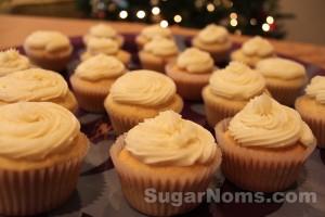 Vanilla Bean Cupcakes w/ Swiss Buttercream #SugarNomsTV
