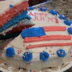 Red, white and blue layers!