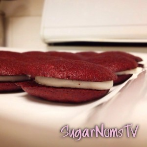 Red Velvet Whoopie Pies With Buttermilk Truck's #RVmix